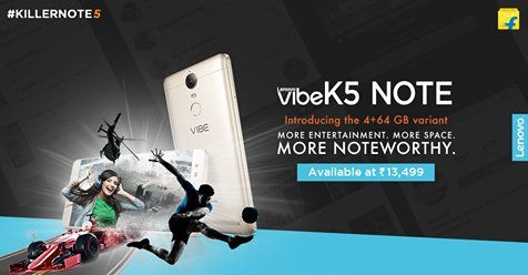 Lenovo Vibe K5 Note 4GB RAM Variant Updated with Extra 32GB